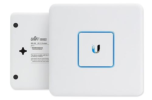 UniFi Security Gateway Front and Rear