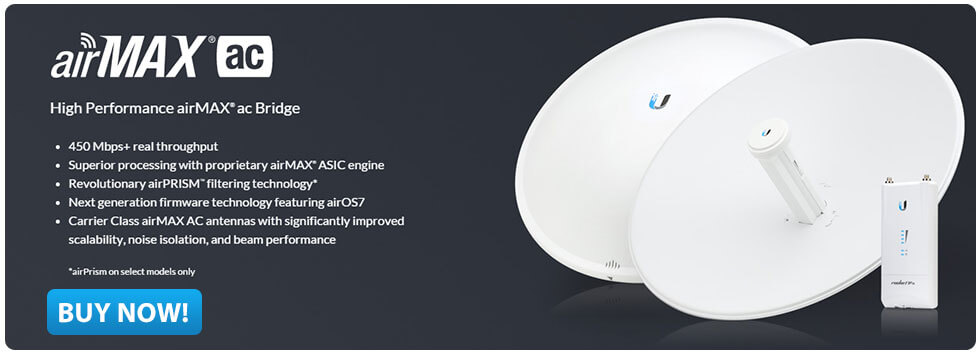 Ubiquiti Networks High Performance airMAX ac Bridge Click here to buy now!